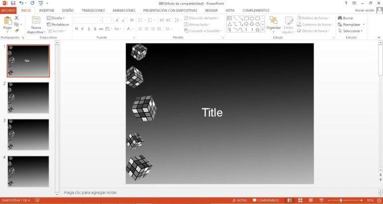 Plantilla Rubik para PowerPoint