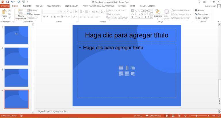 Plantilla Azul para PowerPoint