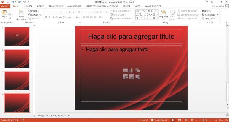Plantilla roja para PowerPoint