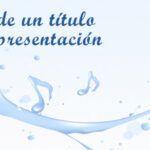 Fondos de PowerPoint con agua