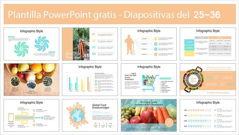 plantilla PowerPoint semillas