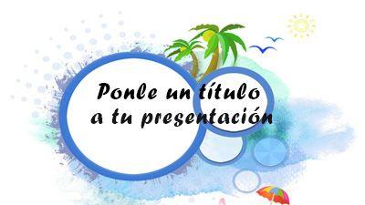 Plantilla playa para PowerPoint gratis