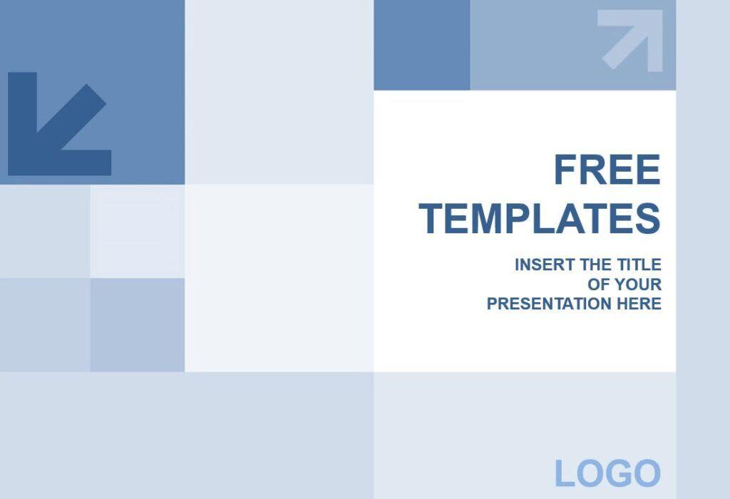 Plantilla cuadrados azules para PowerPoint