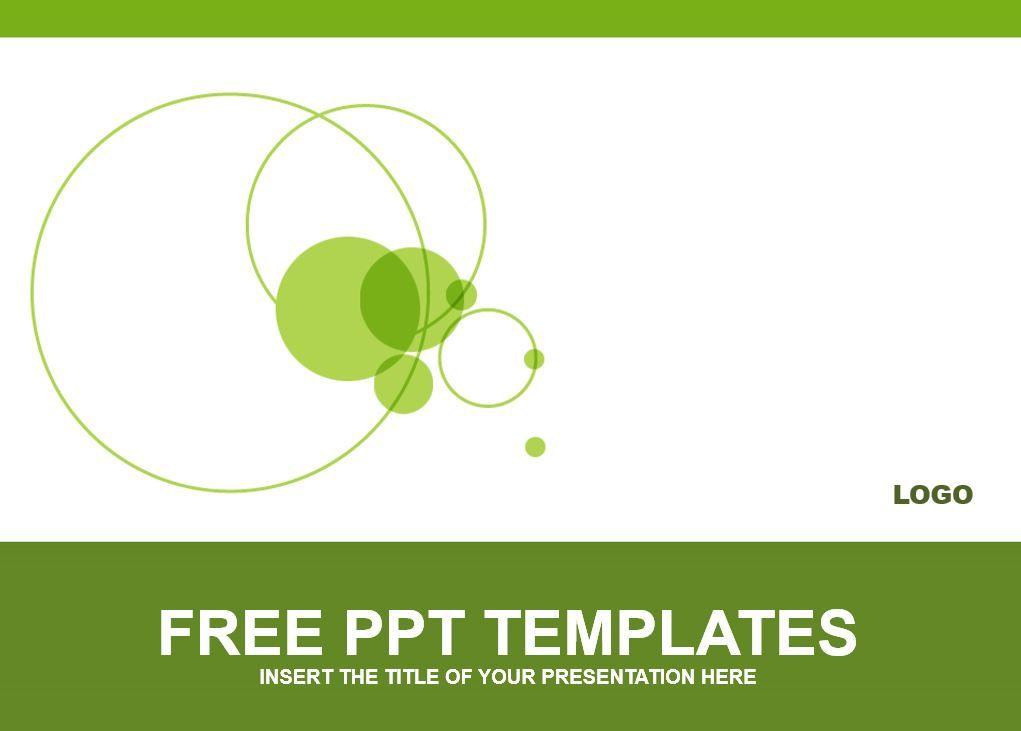 círculos verdes para PowerPoint