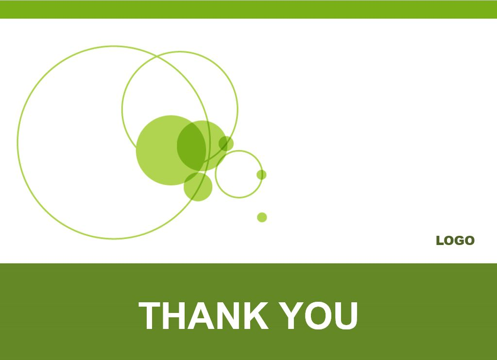 Plantilla PowerPoint de círculos verdes